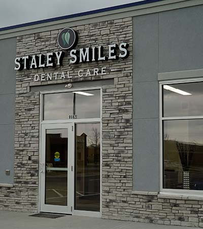 Staley Smiles Dental Care - front door and signage